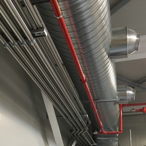 Stainless steel piping for pellets